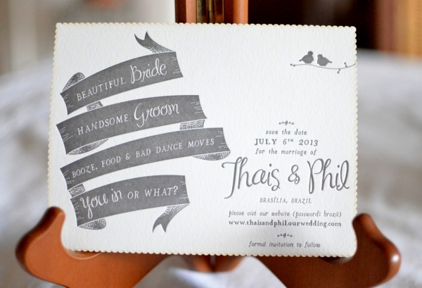 C1 Thais & Phil {Save The Date e Convite}