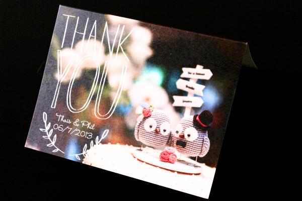 21 Cartão de agradecimento