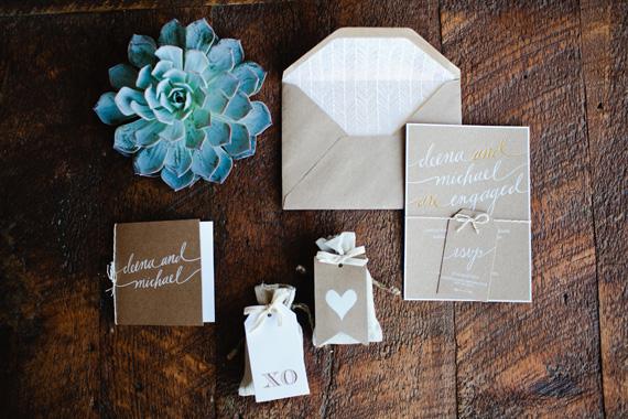 surprise california wedding 11 Suculentas na decoração