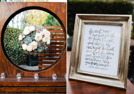 surprise california wedding 20 Suculentas na decoração
