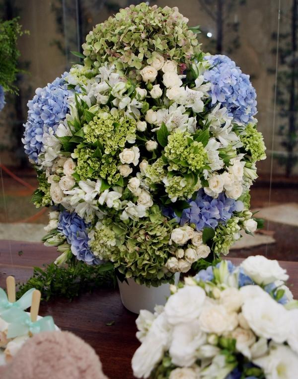71 Decoração: azul, verde e branco