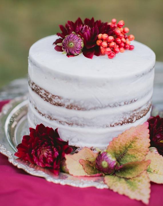 bolo com flores 2 Bolo + flores naturais