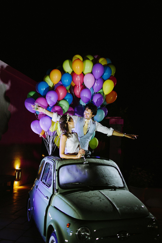 ano novo Balões coloridos