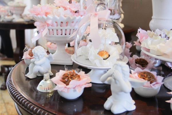 191 Decoração: rosa e branco