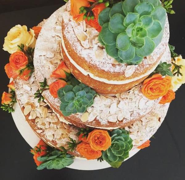 bolo com suculentas 1 Naked cake + suculentas