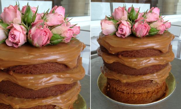NAKED CAKE 1 Naked cake com flores e frutas
