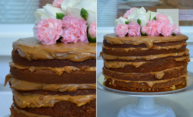 NAKED CAKE 4 Naked cake com flores e frutas