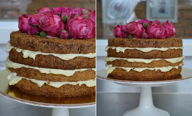NAKED CAKE 5 Naked cake com flores e frutas
