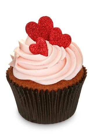 cupcake corações Cupcake com corações