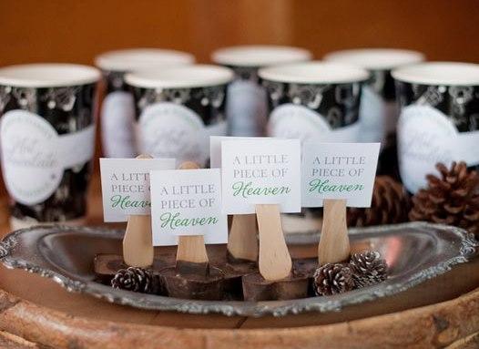 winter wedding decor inspiration 4 2 Plaquinhas para os doces