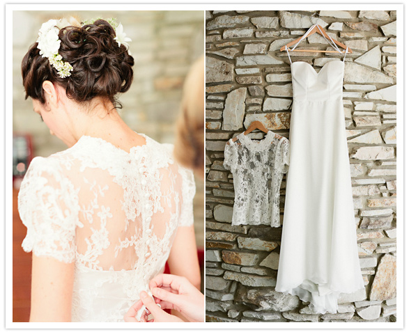 16 Vestido de noiva + blusa de renda