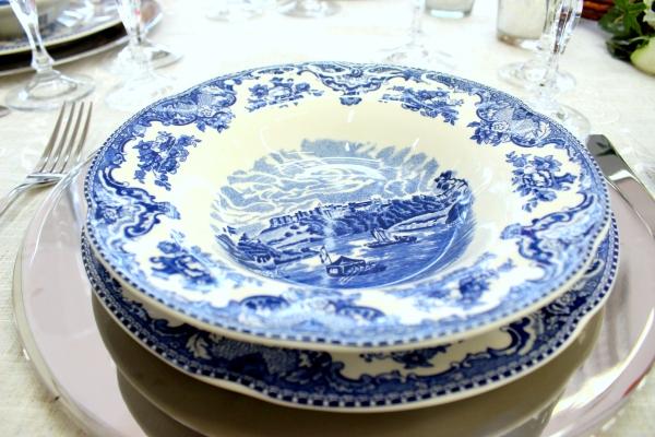 23 Montando mesas {azul e branco}