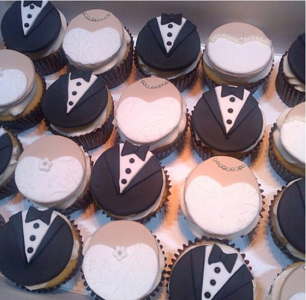 cupcakes 2 Cupcakes (de noivinhos)