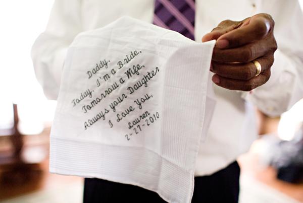 lencinho casamento Lembrancinha para o pai