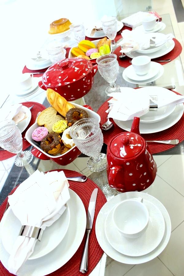 bb Montando mesas {vermelho e branco}