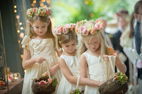 NOVAS Daminhas (com guirlandas de flores)