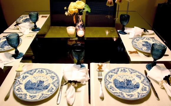43 Mesa para o Jantar {azul + branco}