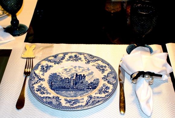74 Mesa para o Jantar {azul + branco}