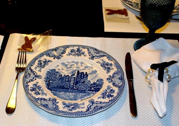 84 Mesa para o Jantar {azul + branco}