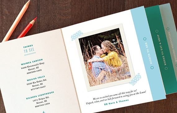 minted wedding invitations 11 Save the Date: Mini Book