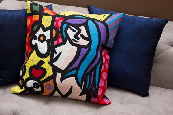 almofada 2 Almofadas Arte...!