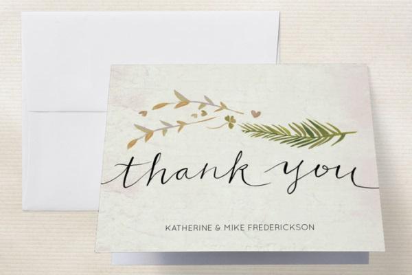 192 Cartões de agradecimento