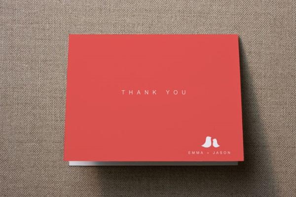 44 Cartões de agradecimento
