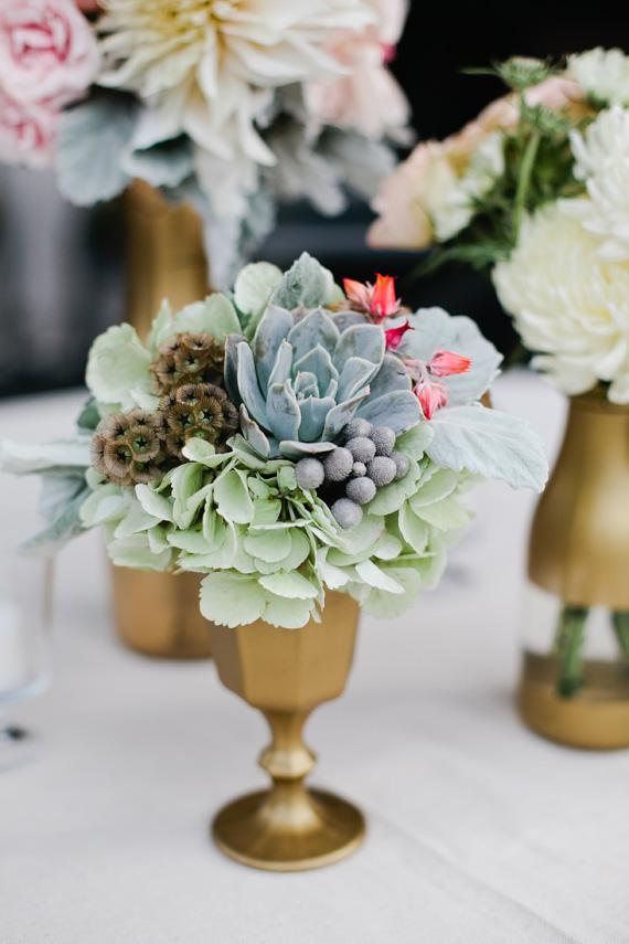 surprise california wedding 4 Suculentas na decoração