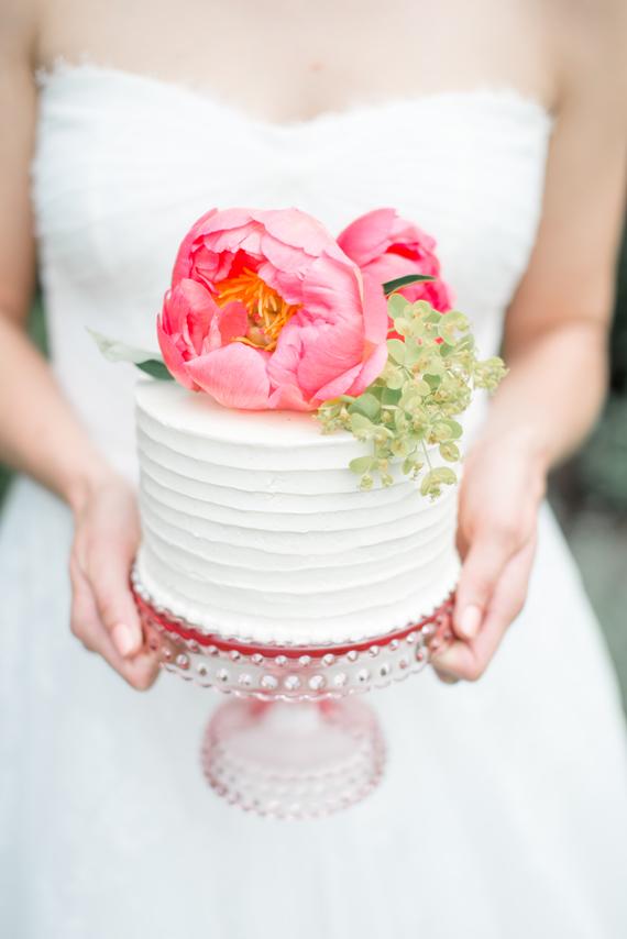 mini bolo Mini bolo + flores naturais