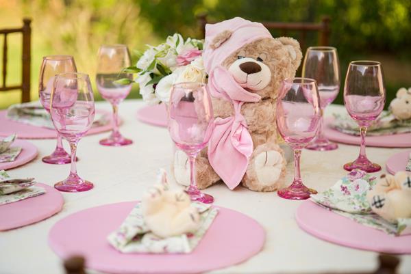 282 Decoração: rosa e branco