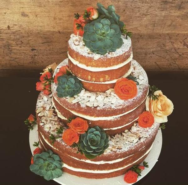 bolo com suculentas 3 Naked cake + suculentas
