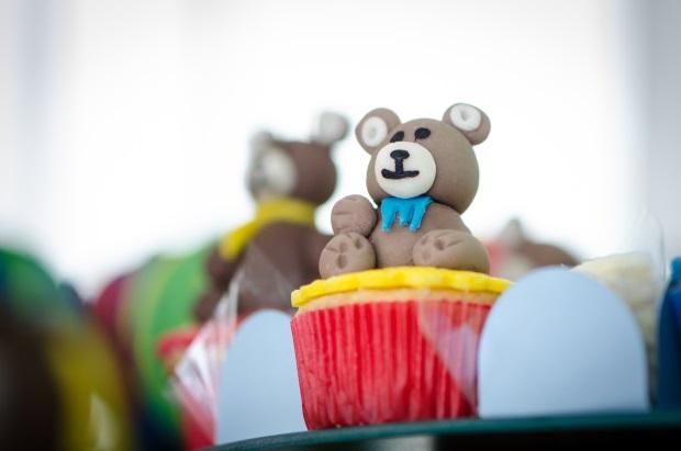 foto 13 Decoração: urso e balões