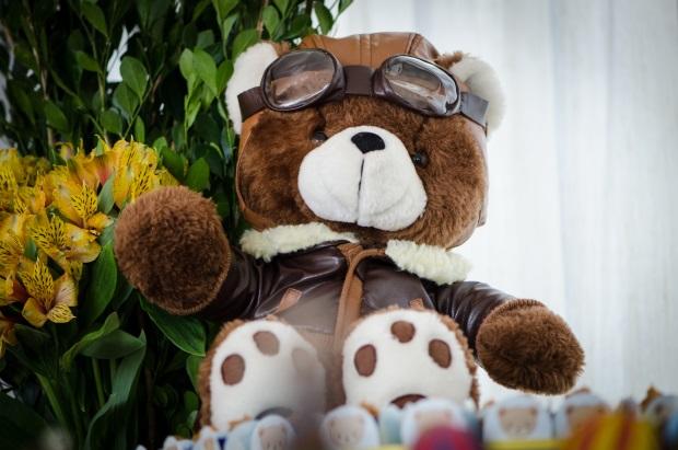 foto 14 Decoração: urso e balões