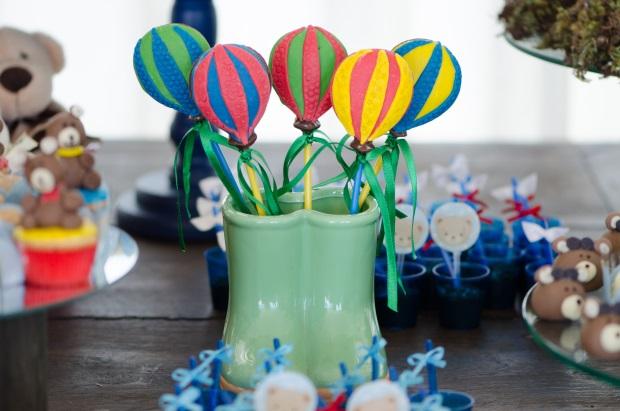 foto 28 Decoração: urso e balões