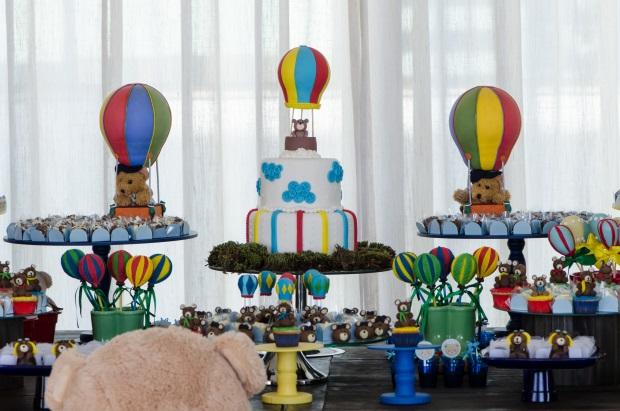 foto 35 Decoração: urso e balões