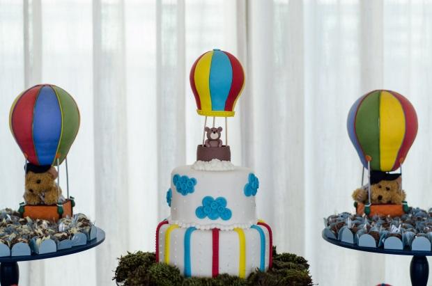 foto 43 Decoração: urso e balões