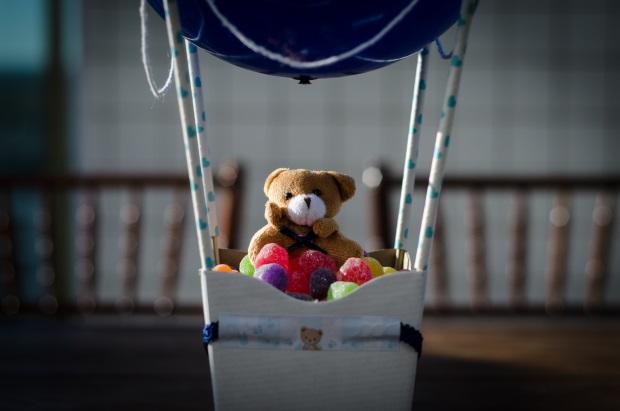 foto 46 Decoração: urso e balões