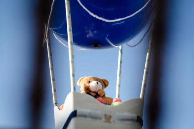 foto 48 Decoração: urso e balões