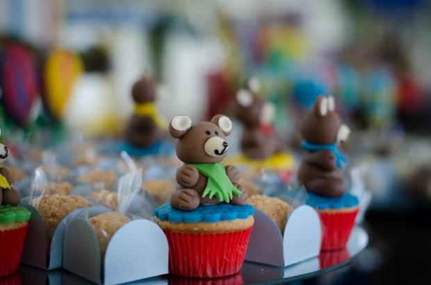 foto 56 Decoração: urso e balões