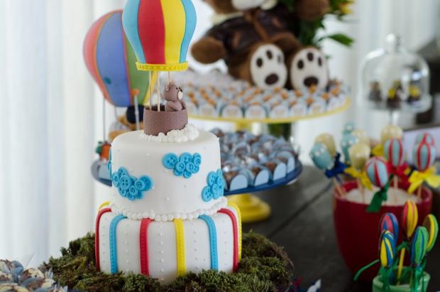 foto 66 Decoração: urso e balões
