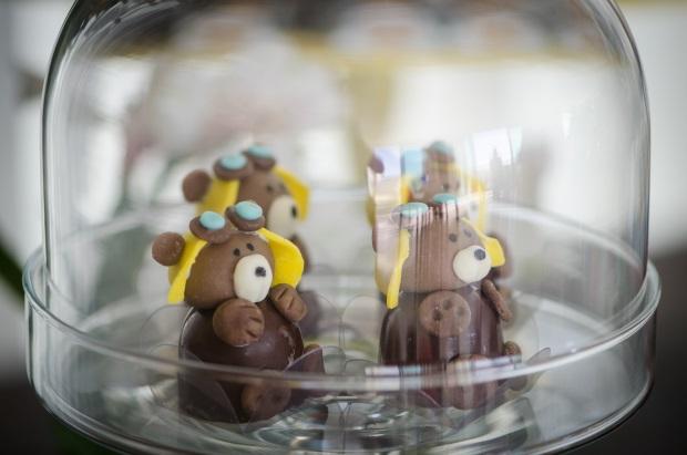 foto 7 Decoração: urso e balões