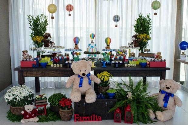 foto 70 Decoração: urso e balões