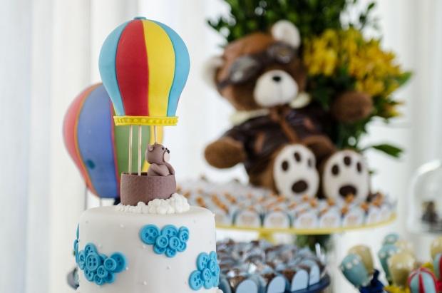 foto 74 Decoração: urso e balões