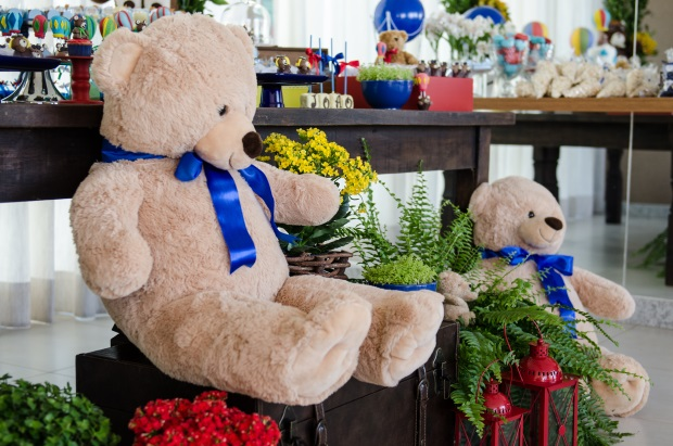 foto 75 Decoração: urso e balões