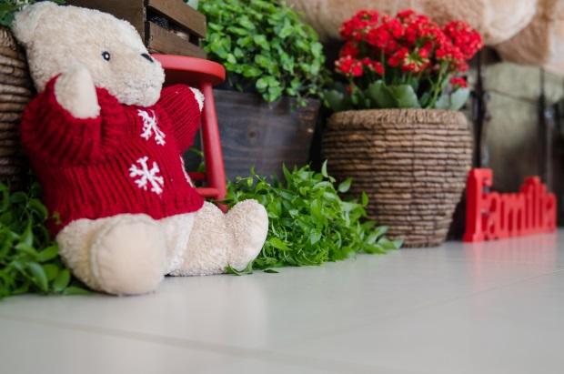 foto 76 Decoração: urso e balões