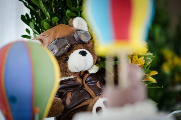 foto 9 Decoração: urso e balões