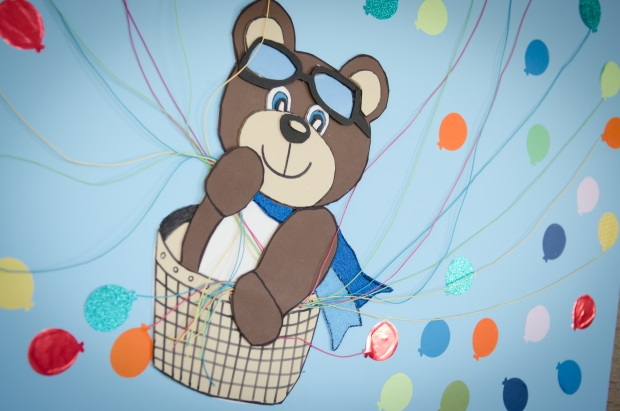 foto 90 Decoração: urso e balões