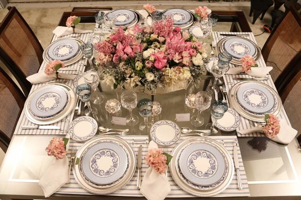 mesa posta 5 Mesa posta {rosa, azul e branco}