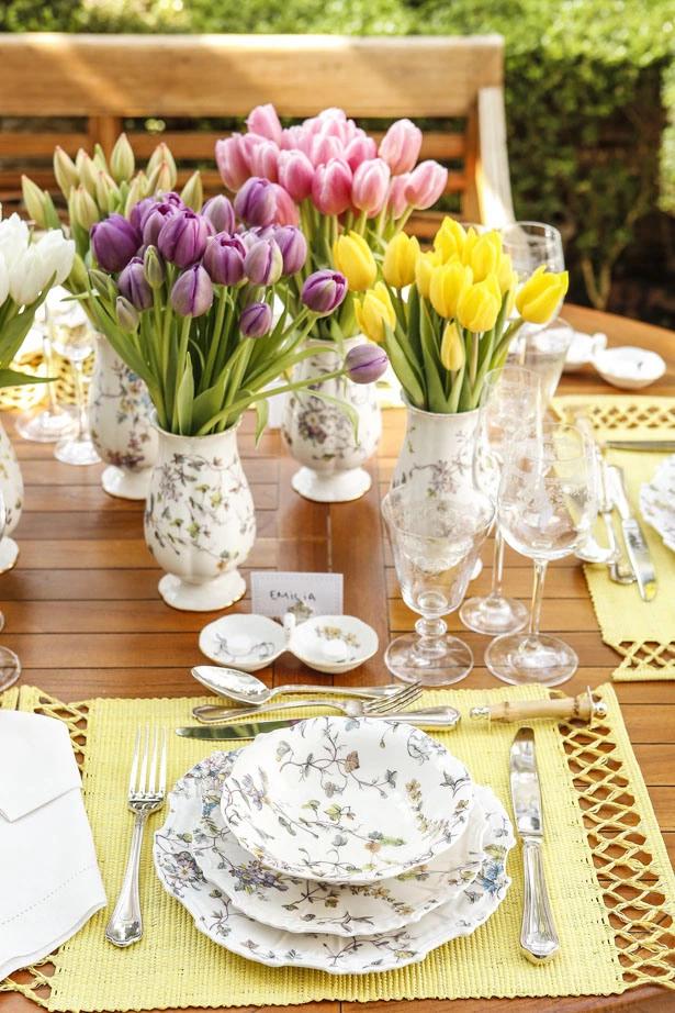 tulipas 10 Tulipas para o centro da mesa