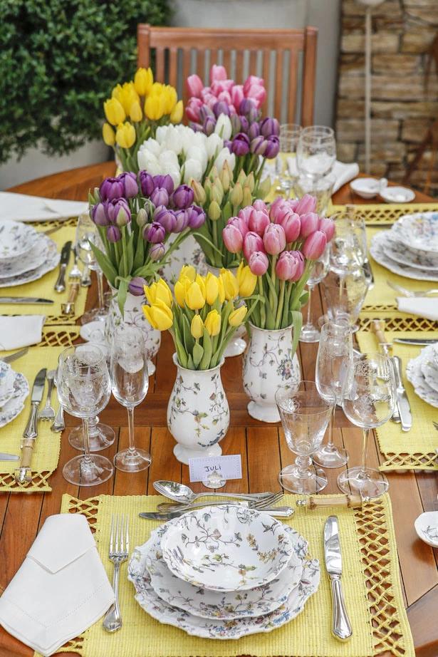 tulipas 12 Tulipas para o centro da mesa